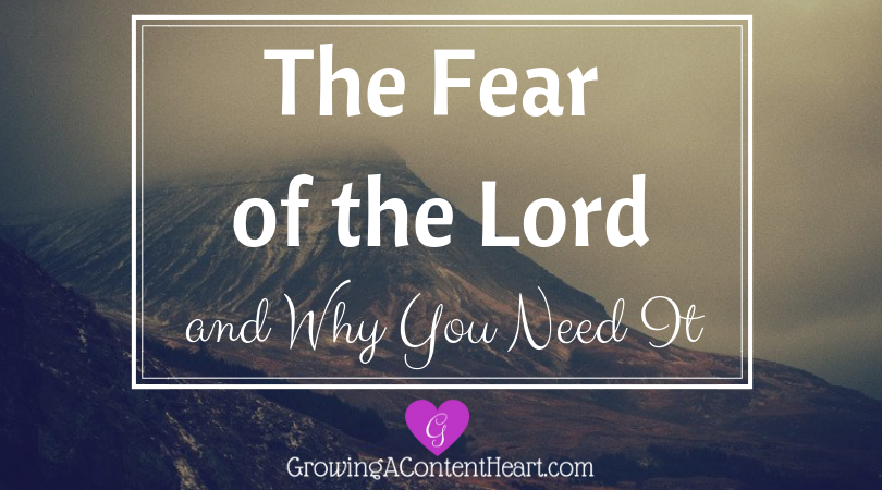 The Fear of the Lord and Why You Need It