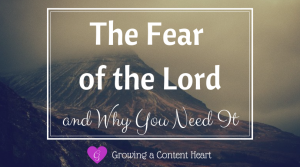 Fear of the Lord - Growing a Content Heart