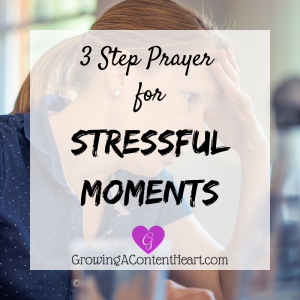 3 Step Prayer for Stressful Moments