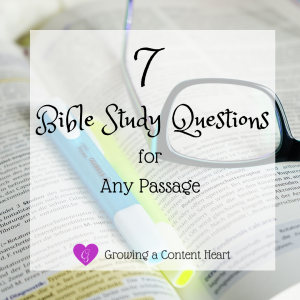 7 Bible Study Questions for Any Passage
